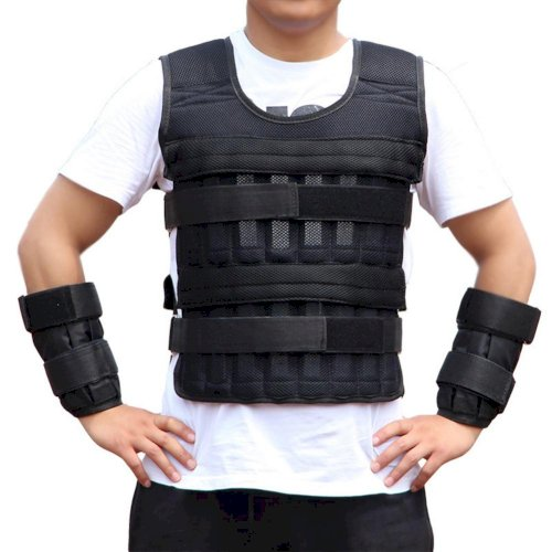 30KG Loading Weight Vest For Boxing Weight Training Workout Fitness Gym.