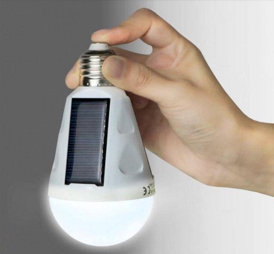 Emergency LED Light Bulb with Solar Panel